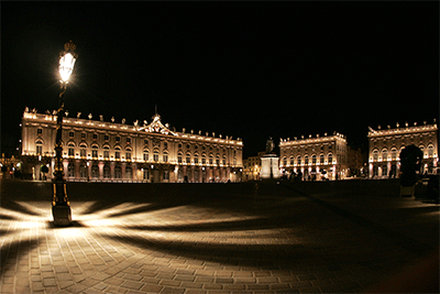 Apercu place Stanislas Nancy nuit