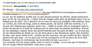 Exemple commentaire Amazon