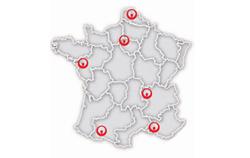 Carte des différents Campus Veolia en France