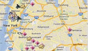 Exemple de visualisation de données représentant les crimes à New York