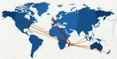 Localisation des stages ESIROI à l'étranger