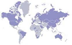 Présence mondiale d'AREVA