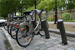Aperçu des Vélib', vélos en libre service de la ville de Paris