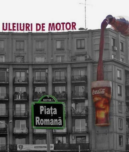Publicité Coca Cola Street marketing
