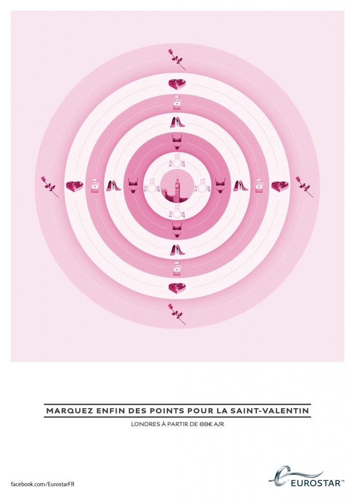 Publicité Eurostar pour la Saint Valentin