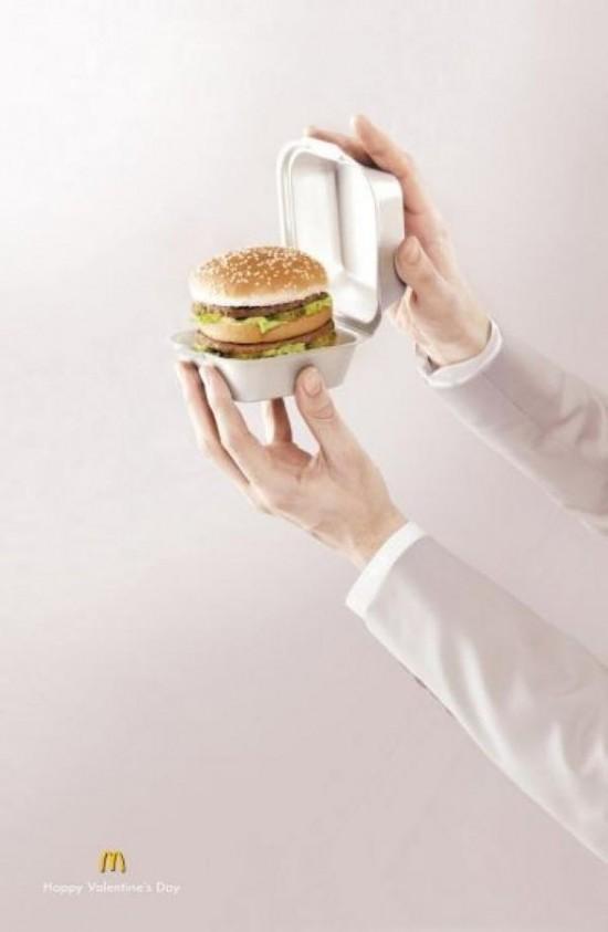 Publicité McDonald's pour la Saint Valentin
