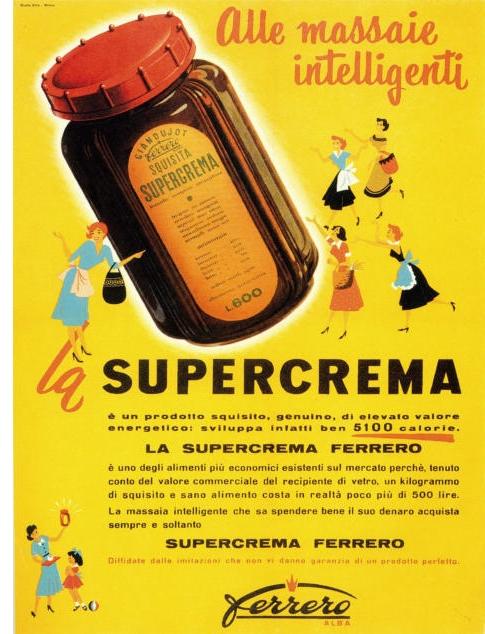 L'ancêtre du Nutella : la Supercrema