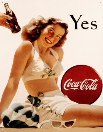 Publicité Coca Cola Pin Up