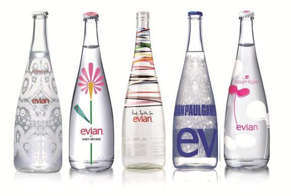Evian etudes analyses marketing et communication d 39 evian - Evian bouteille verre ...