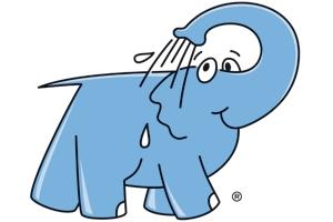 Logo éléphant bleu