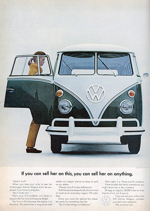 Le combi volkswagen 60 ans de publicit - Affiche combi volkswagen ...