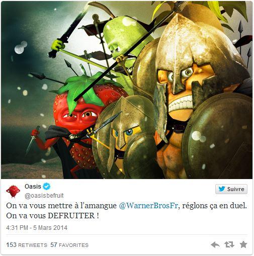 Tweet Oasis sur 300 La naissance d'un empire de warner Bros