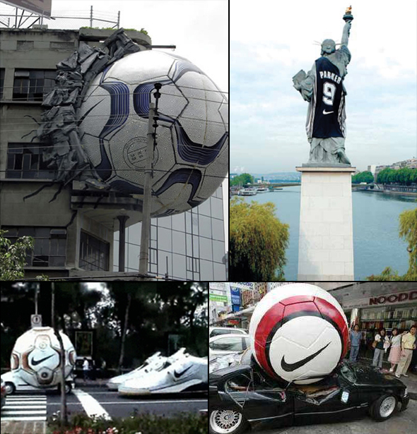 Campagne street marketing Nike