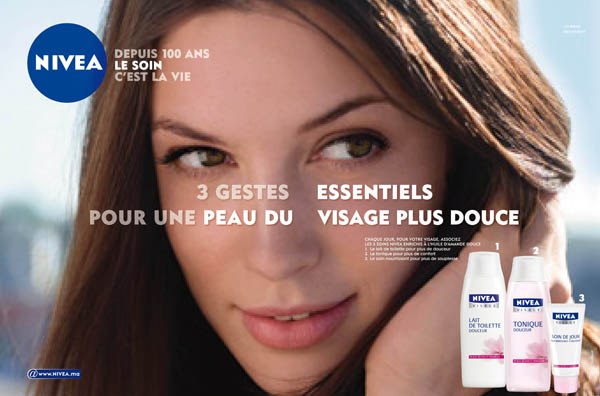 Publicité Nivea Essentials