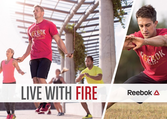 Publicité Reebok Live With Fire