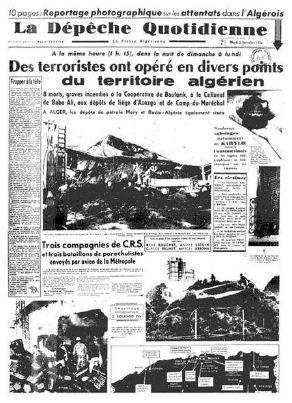 Journal Décolonisation en Algérie