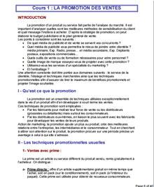 La Promotion D Un Produit Service Ou Systeme Cours à