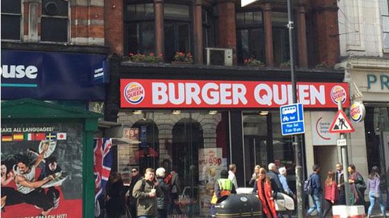 Burger queen en hommage à Elizabeth 2
